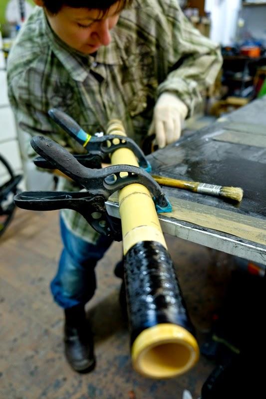 Bambusowy rower – (po) Tyczki