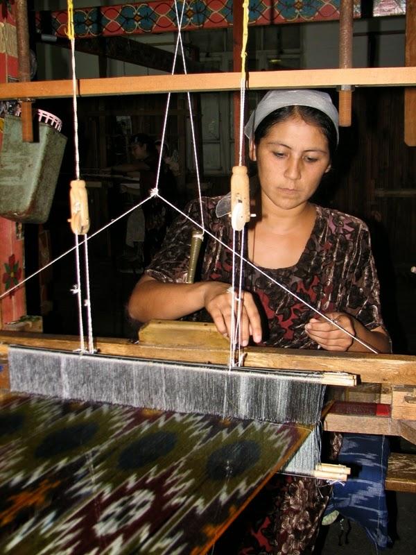 Ikat factory, Fergana, Uzbekistan.