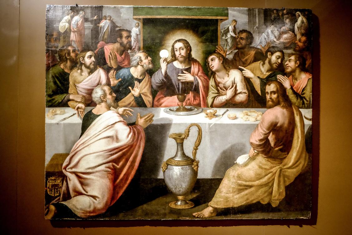 Święty Graal na obrazie jednego z dawnych hiszpańskich mistrzów