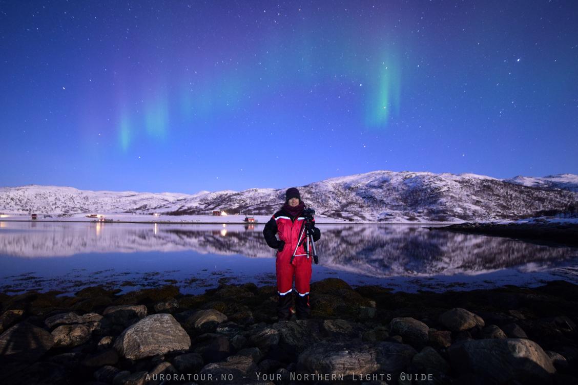 zorza polarna pod tromso w norwegii