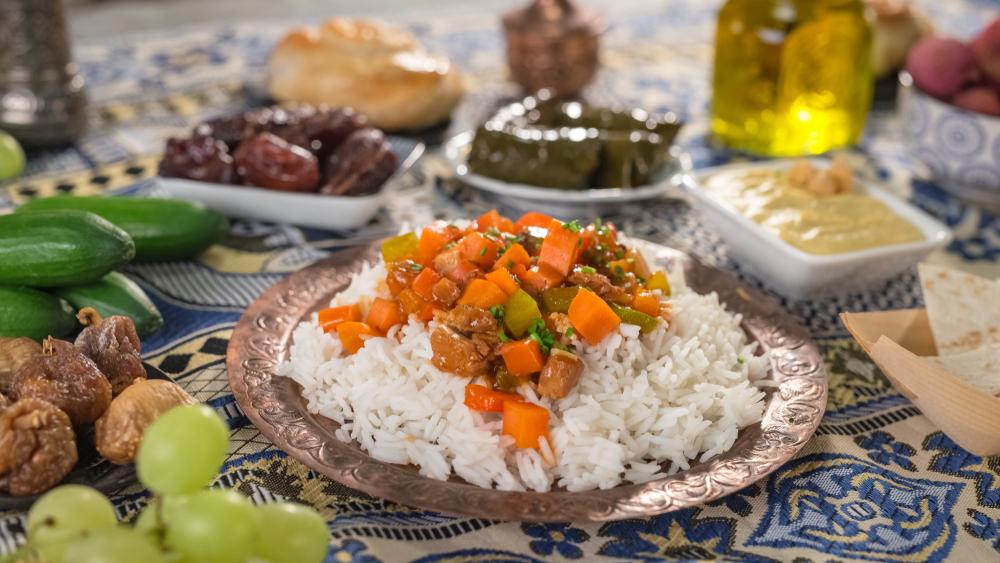 Traditional iftar food