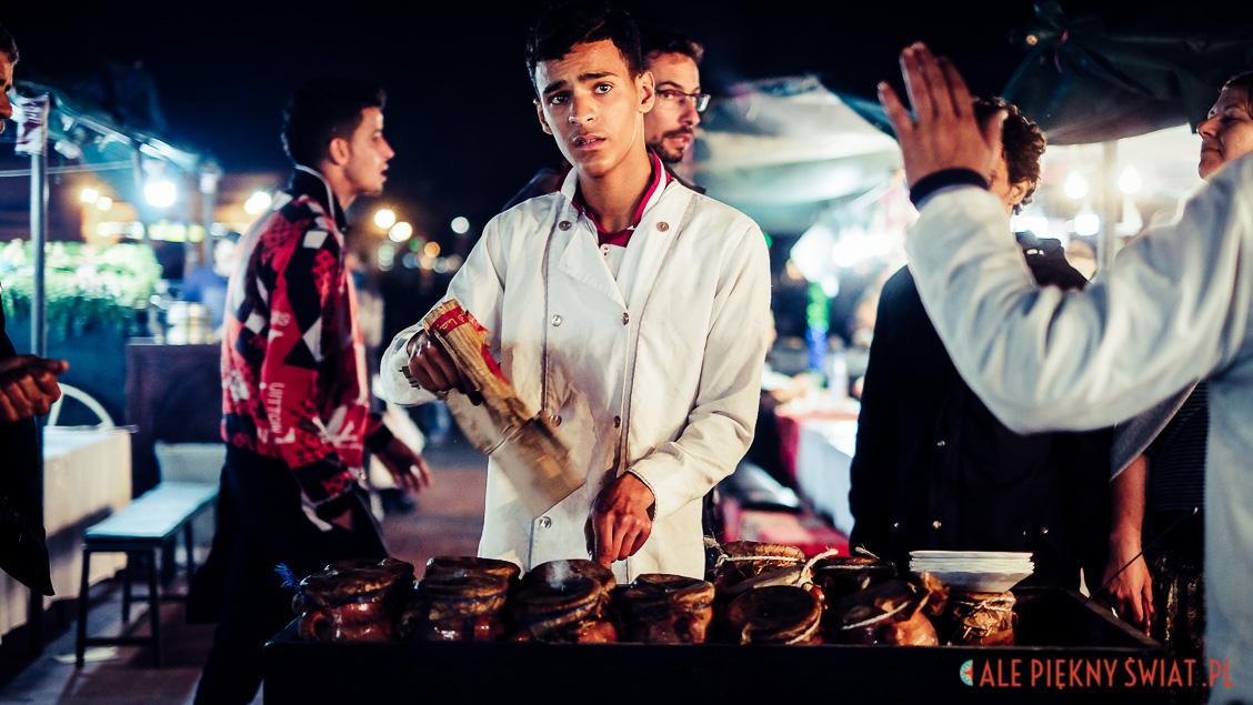 Marrakesz w Maroku, bazar
