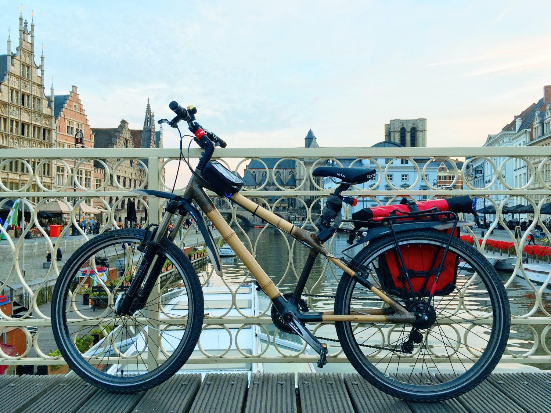 bambusowy rower w Belgii