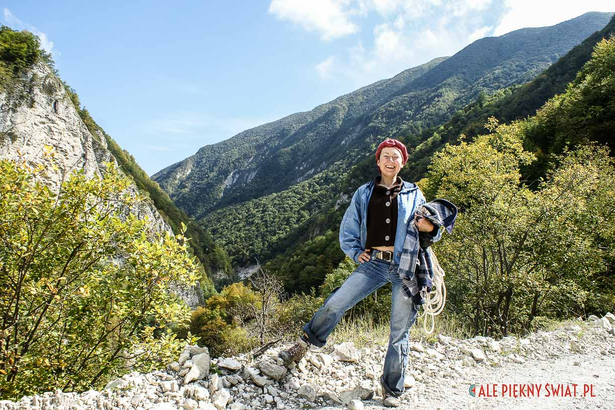 Dorota Chojnowska w górach Czeczenii