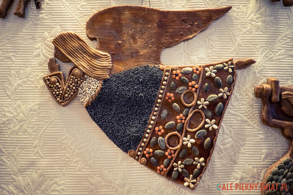 aniołek z piernika z galerii Tebe w Warszawie