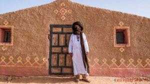Desert camp Chraika w Mhamid w Maroku