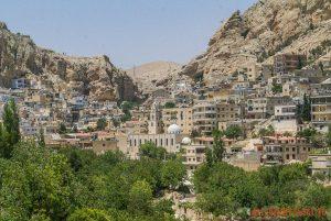 mAALOULA W SYRII. Miasto w którym mówiło się po aramejsku.