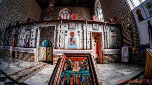 Górowo Iławeckie - Cerkiew Podwyższenia Krzyża Świętego - freski Jerzego Nowosielskiego