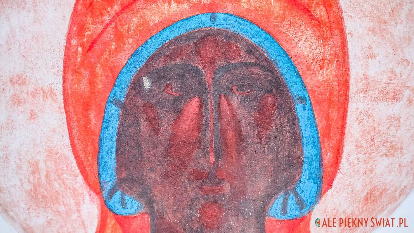 Fresk Jerzego Nowosielskiego z Cerkwii Podwyższenia krzyża Świetego w Górowie Iławeckim.