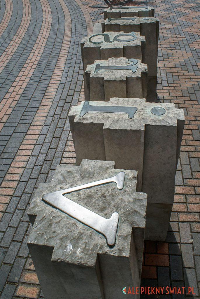 atrakcje birmingam - pomnik fontu baskerville
