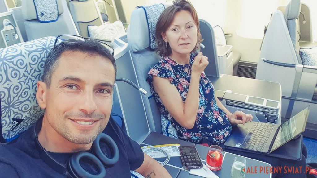 W business class w samolocie Air Astana