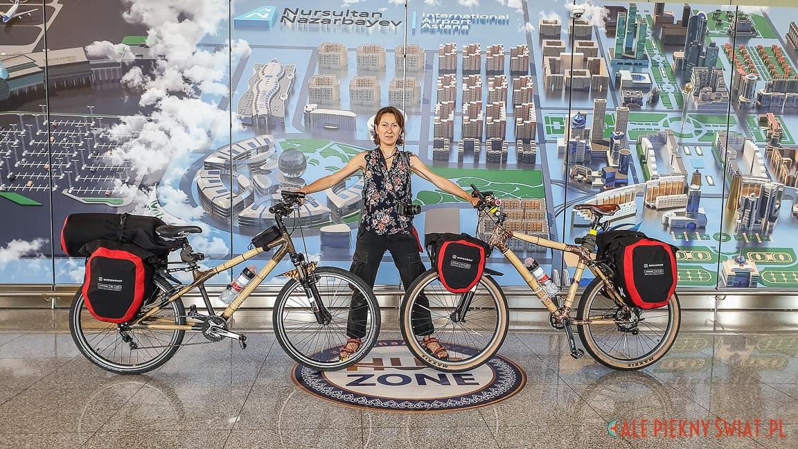 bambusowe rowery na lotnisku w astanie, czyli Nur Sultan