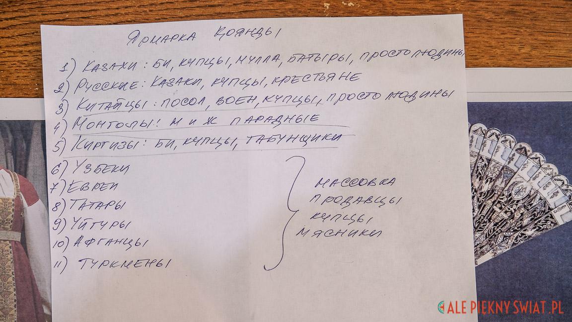 Lista narodowości, która przewinie się przez plan filmu o januszkiewiczu
