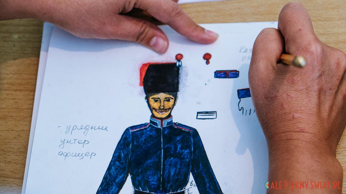 Projekty kostiumów do filmu o Adolfie Januszkiewiczu