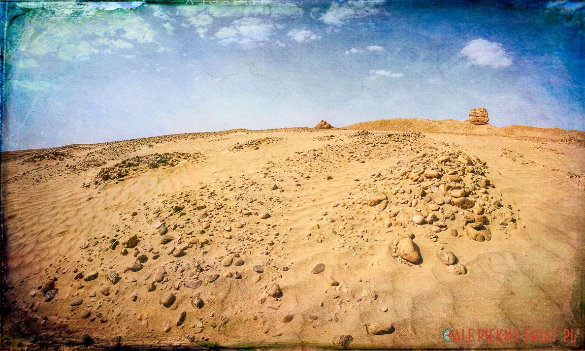 Ruiny miasta na Saharze w Maroku