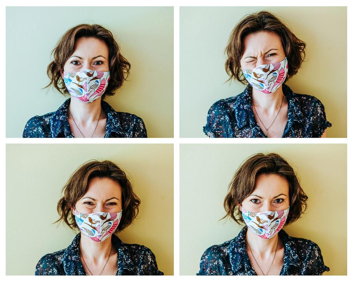 Kronika kwarantanny o chodzeniu w maskach