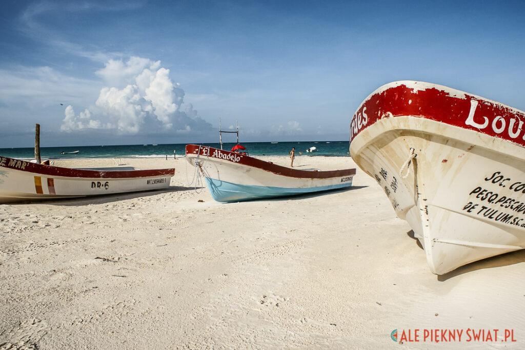 Atrakcje Jukatanu - Plaża w Tulum na Jukatanie w meksyku
