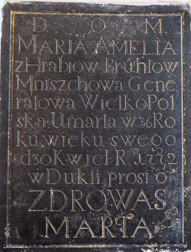 Epitafium z Sanktuarium św. Jana z Dukli